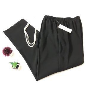 NWT New Koret Black Pull On pants 12